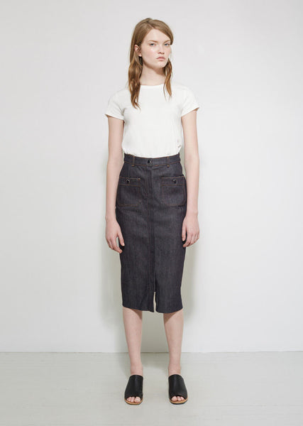 VANESSA SEWARD Brea Denim Skirt La Garconne