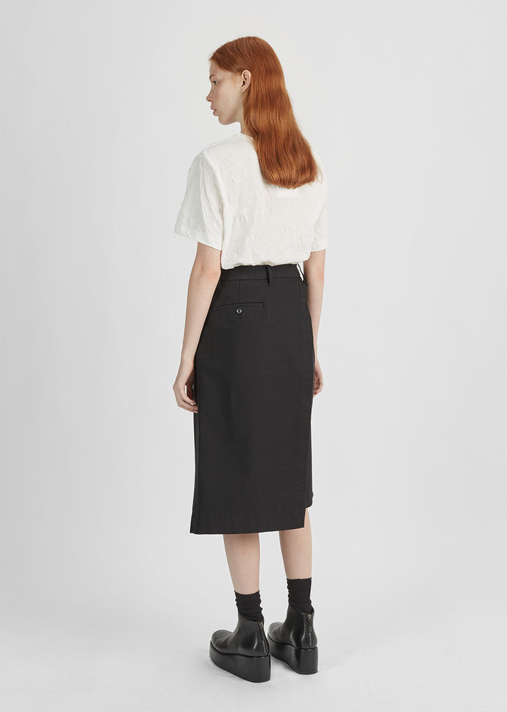 Cotton Angled Wrap Skirt