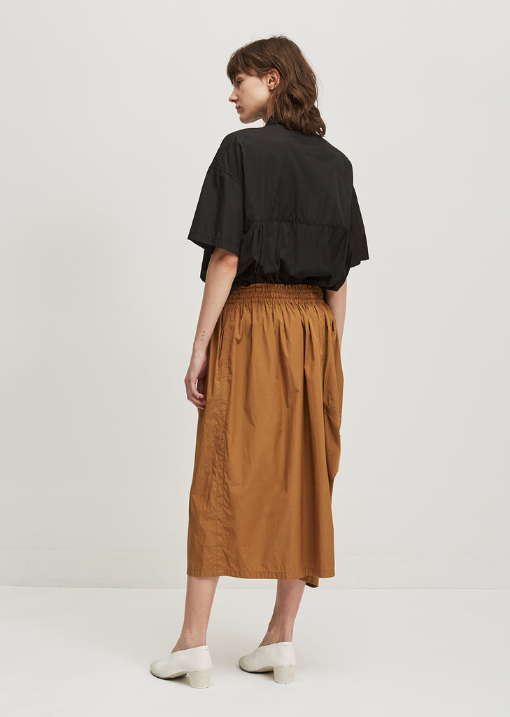 Twill Tuck Down Skirt