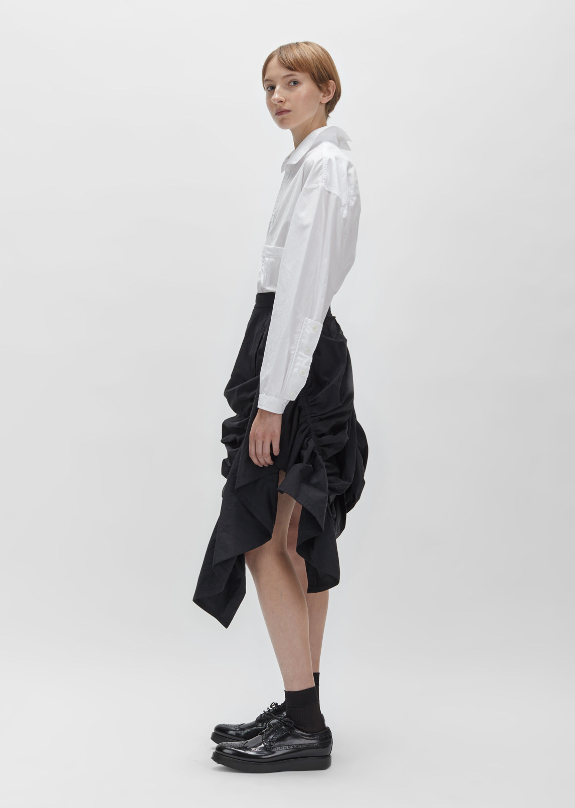 Micro Touch Gathered Skirt
