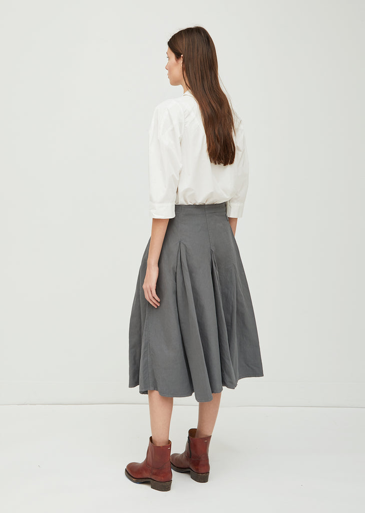 Cotton Linen Twill Skirt