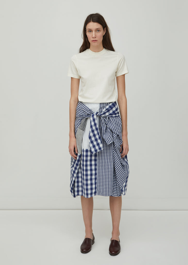 Patchwork Gingham Skirt