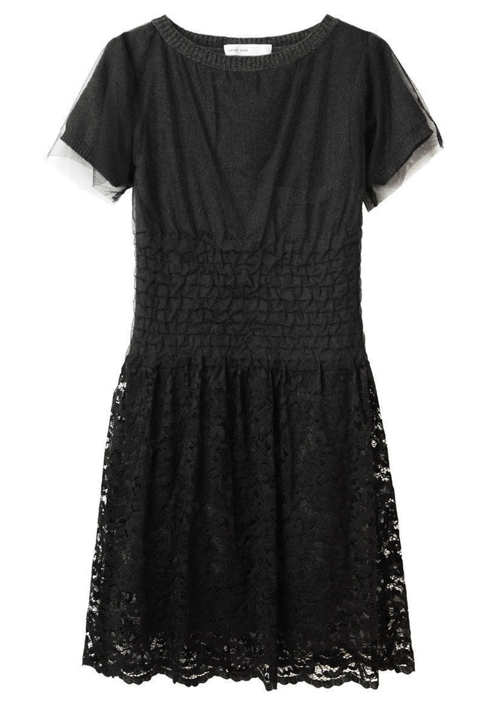Dress With Lace Overlay
