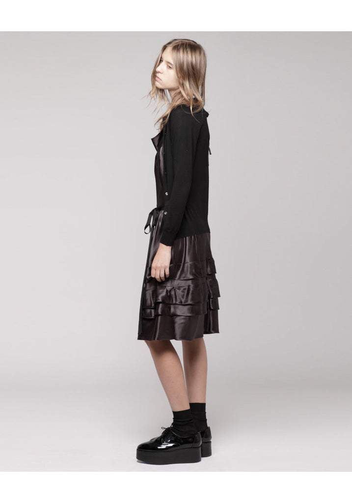 Open Cardigan Dress with Jewels