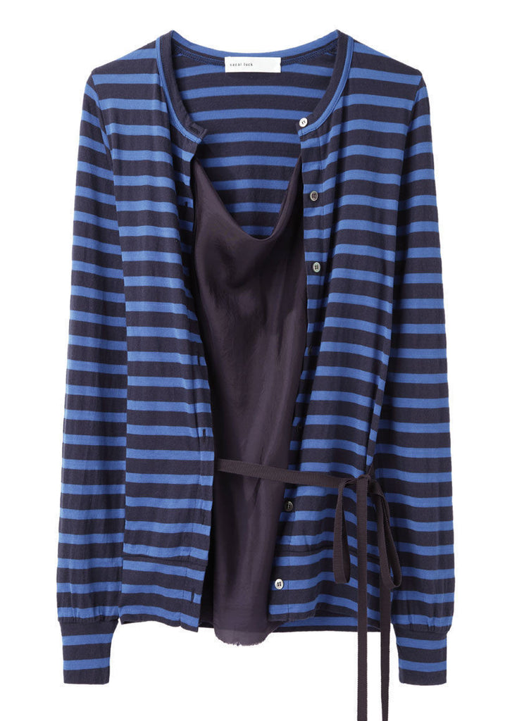 Open Cardigan With Stripes