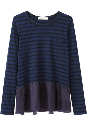 Skirted Stripe Top