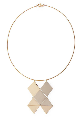 Facet Pendant Necklace