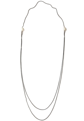 Ivory Long Boule Necklace