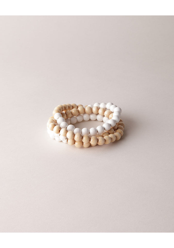 Natural White Wood Necklace