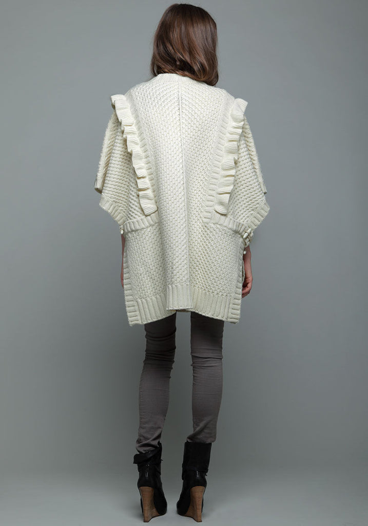 Cable Knit Cape