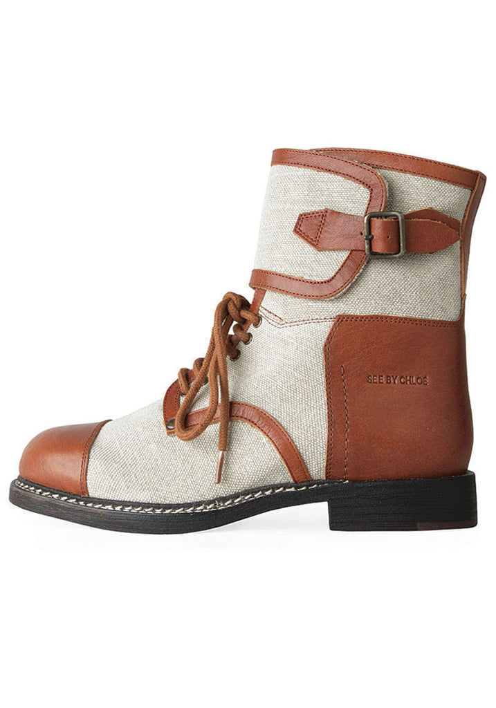 Canvas Biker Boot