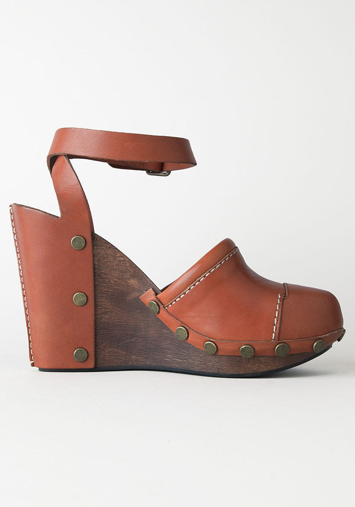 Clog Wedge w/ Ankle Strap