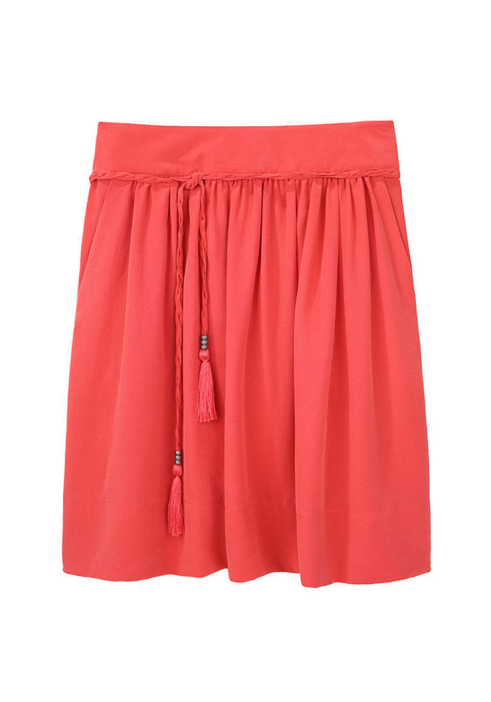 Pleated Tassel Skirt