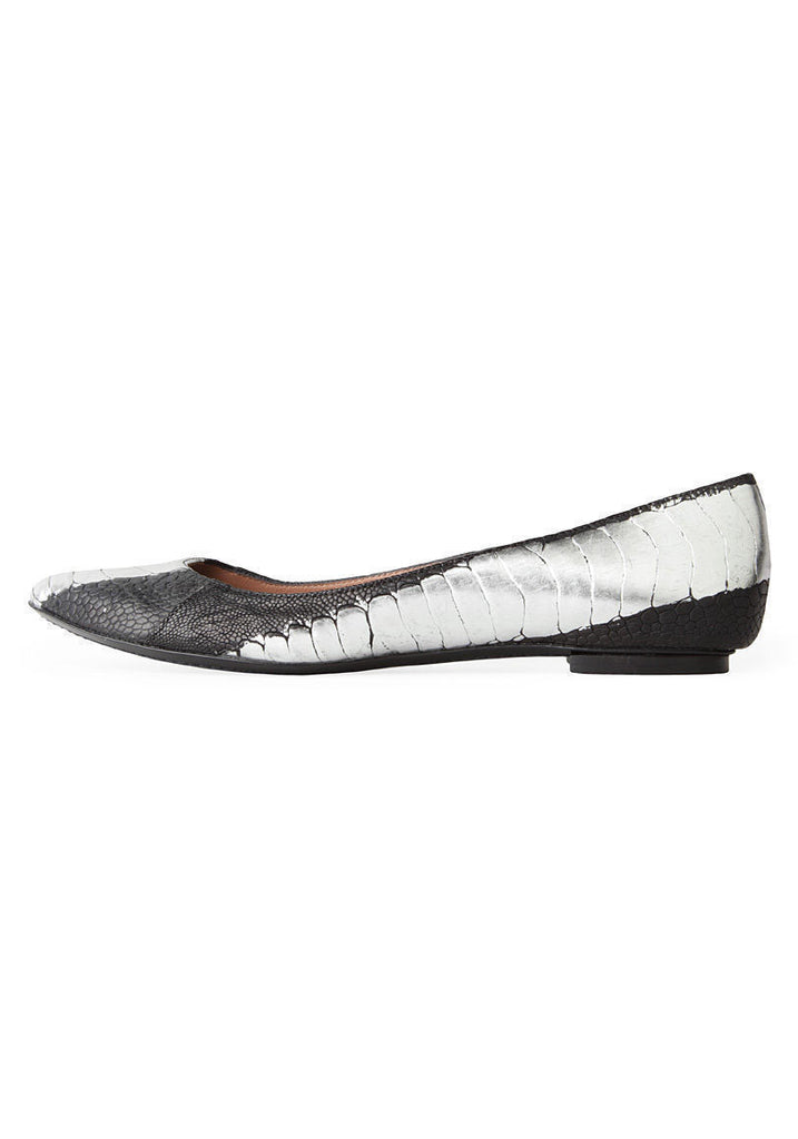 Pointed Croc Flat