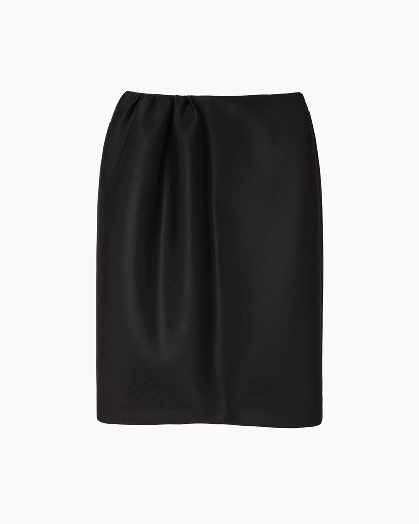 Gathered Neoprene Skirt