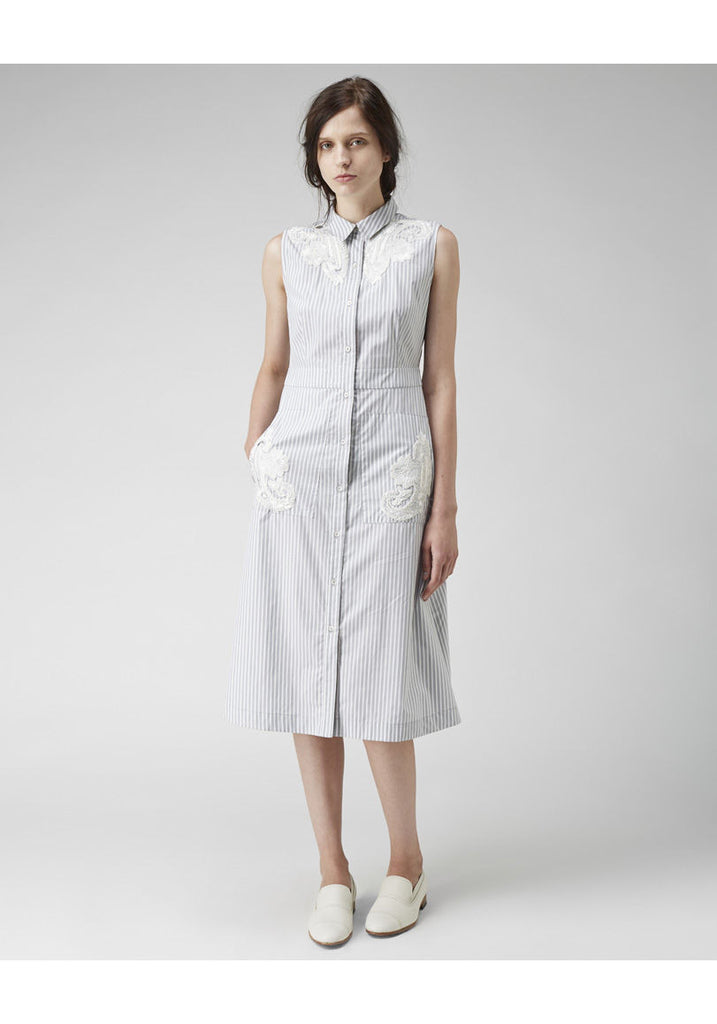 Embroidered Shirtdress