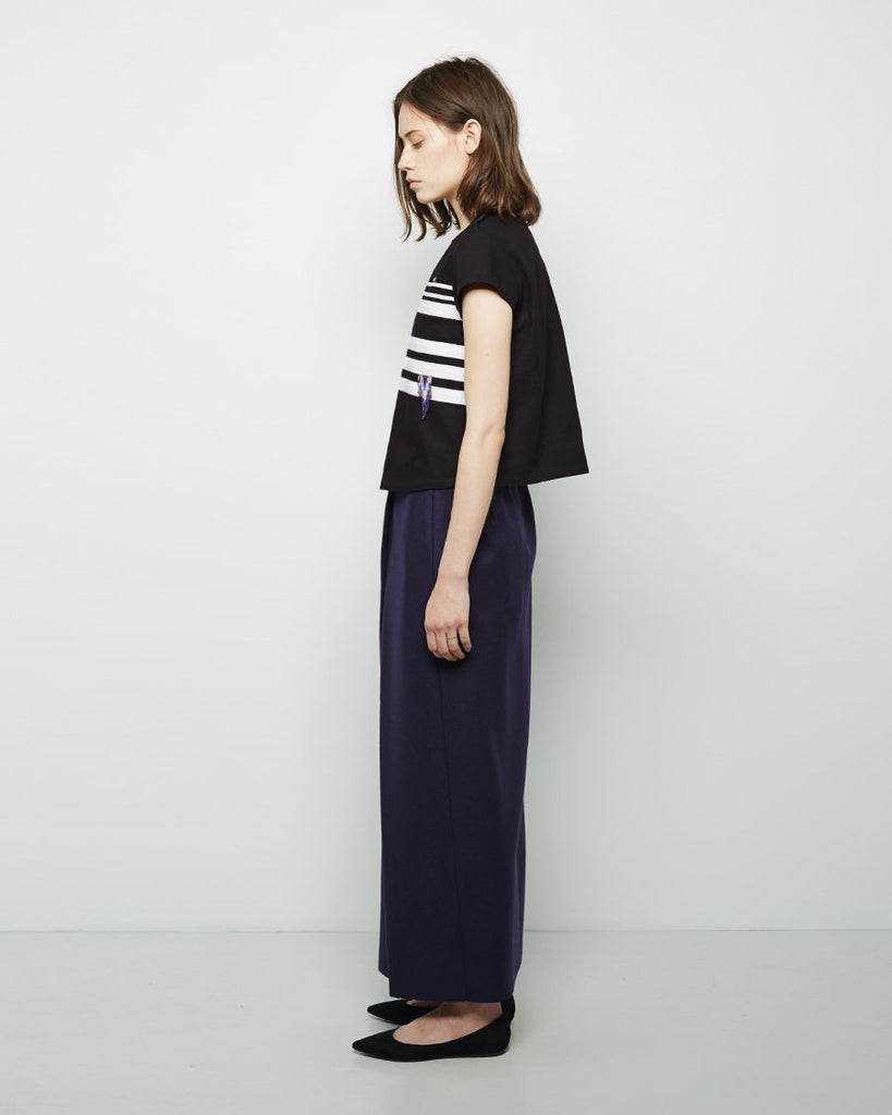 Wrap Pleat Long Skirt