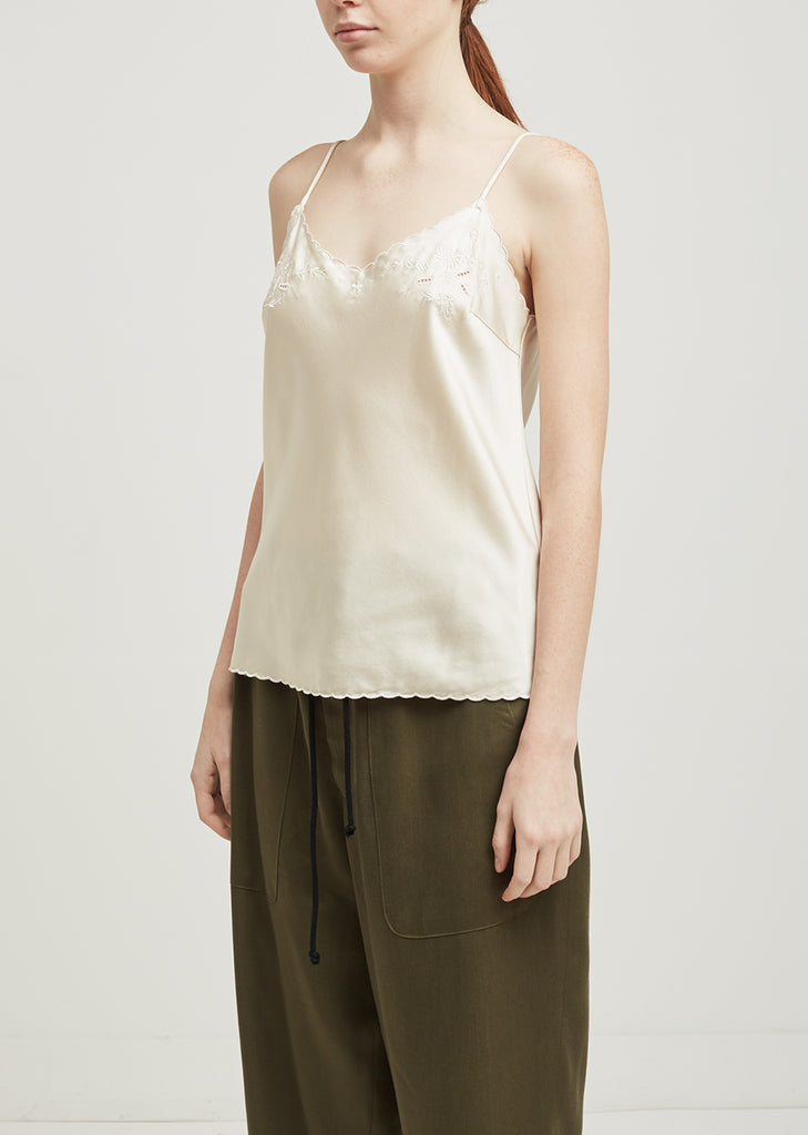 Silk Embroidered Cami