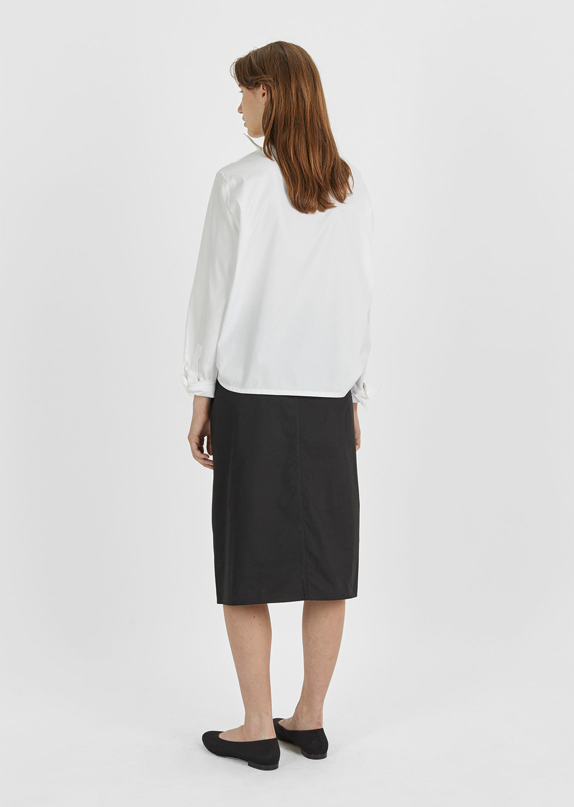 Cotton Standing Collar Blouse