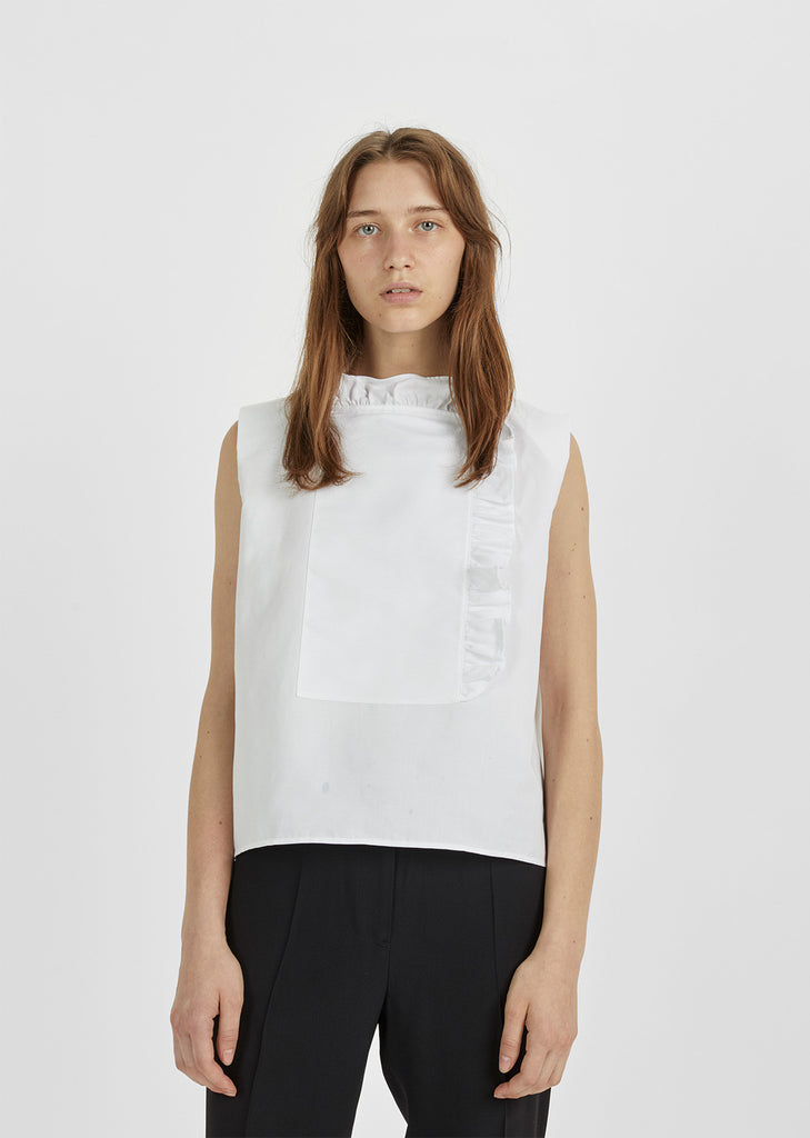 Chantilly Linen Sleeveless Blouse