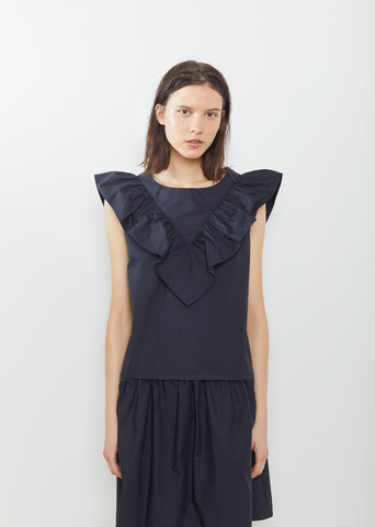 Vendredi Ruffle Sleeveless Blouse