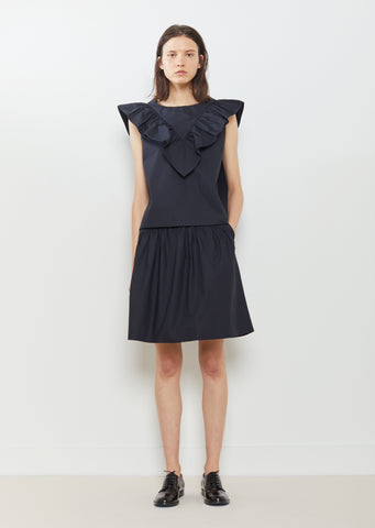 Solid Poplin Skirt