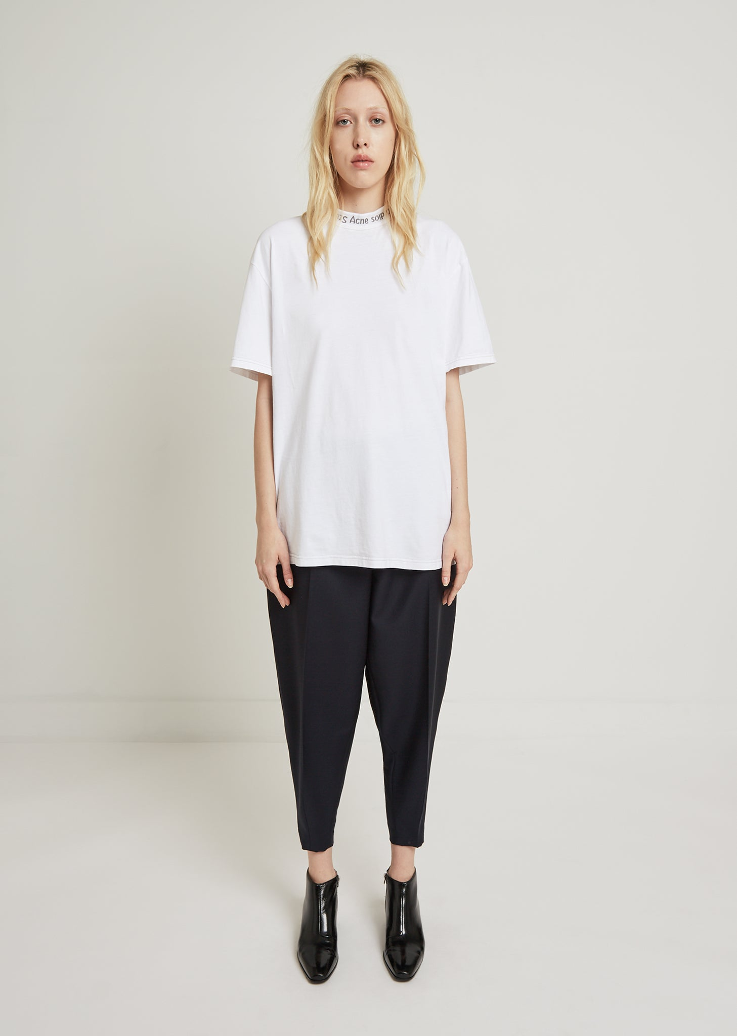 6718591a70aa Gojina Dyed Neck Logo Tee by Acne Studios- La Garçonne