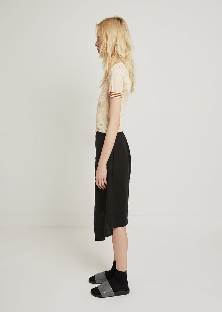 Harleth Raw Wrap Skirt