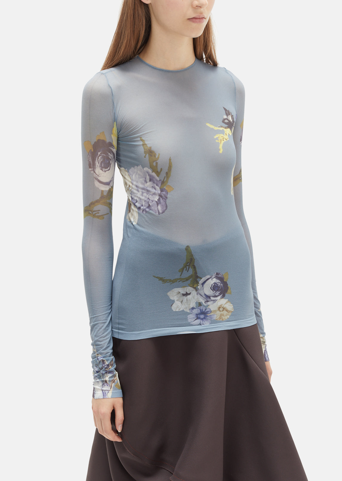 Niala Long Sleeve Flower Top