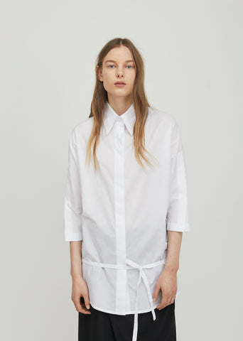 Belted Cotton Shirt