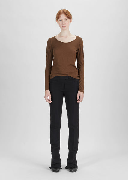 Wool Blend Slim Trouser