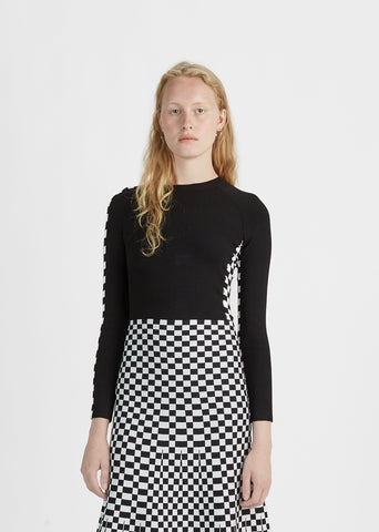 Long Sleeve Checkerboard Tee