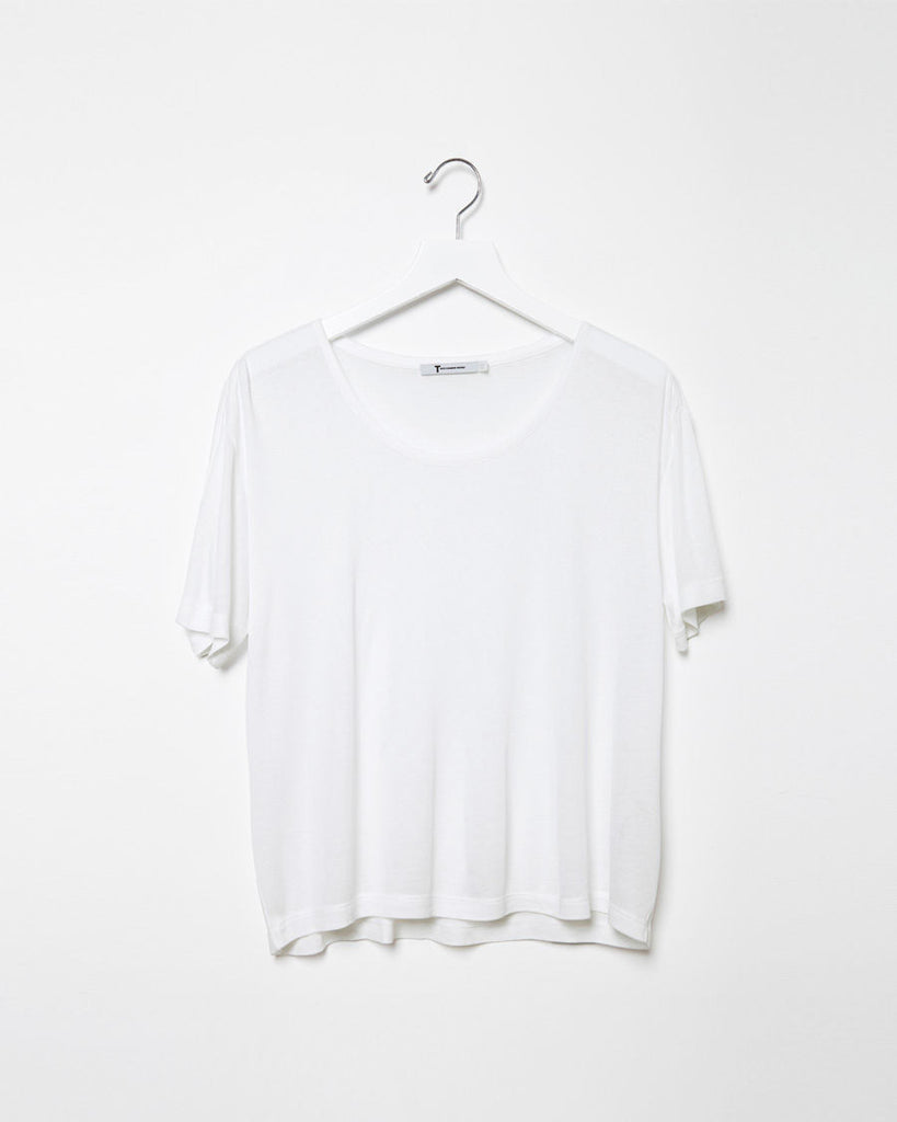 Oversized Ribbed Melange Tee