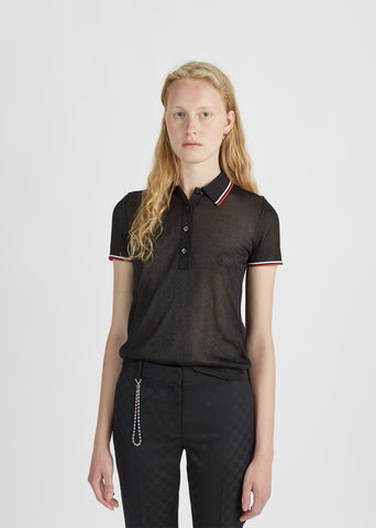 Contrast Striping Trims Polo