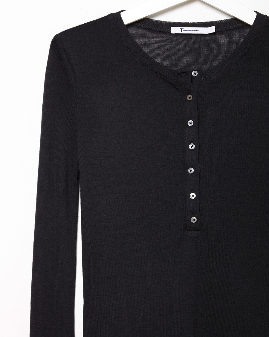 Ribbed Wool Henley