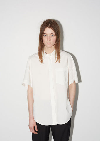 Cotton Poplin Trapeze Back Shirt