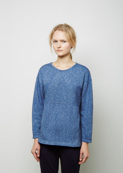 Indigo-Dyed Cotton Pullover