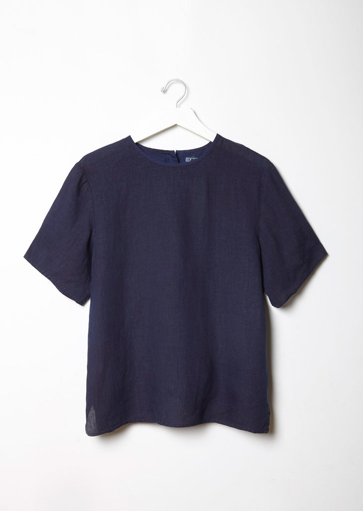 Hand Dyed Linen Top