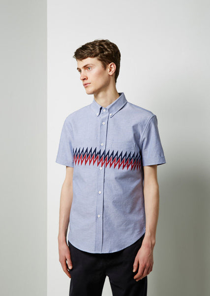 Band of Outsiders Printed Panel Shirt La Garconne