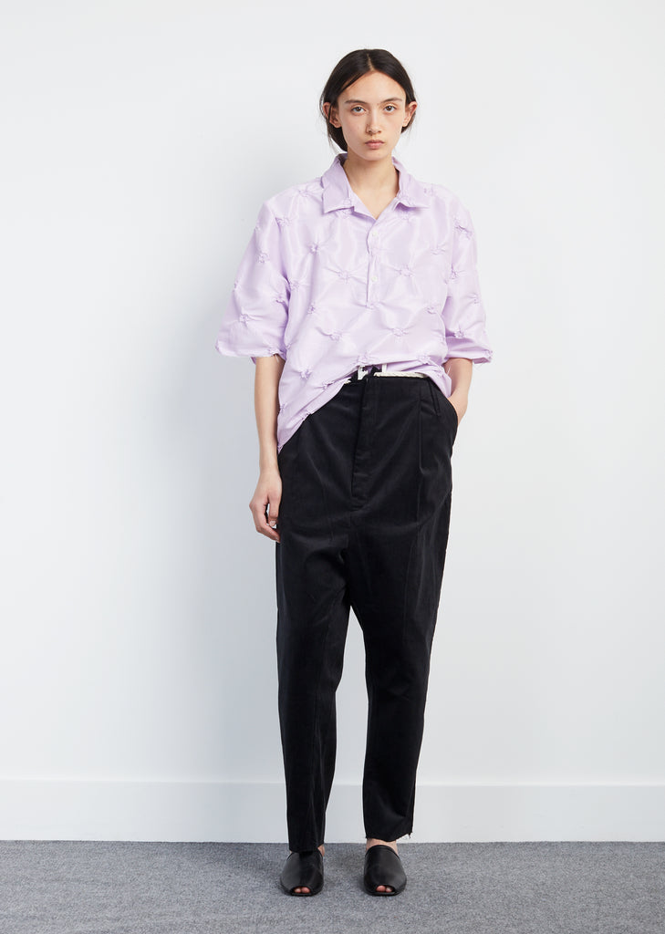 Oversized Pleated Corduroy Pants