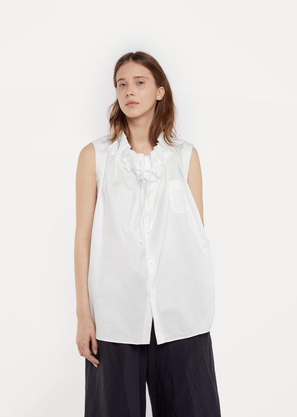 Cotton Gather Neck Shirt