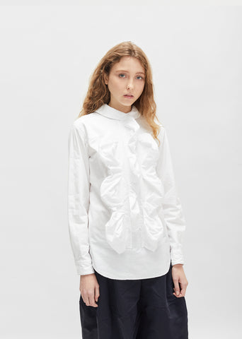 Cotton Ruffle Blouse