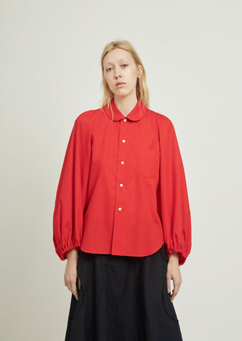 Broad Shirt With Puffy Sleeves