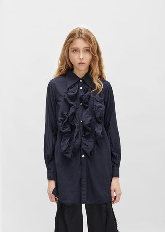 Ruffle Button Down Shirt