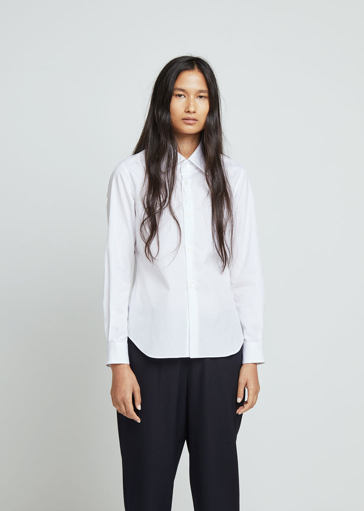 Cotton Broad Button Front Shirt