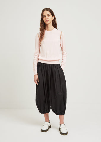 Cotton Broad Puffy Pants