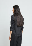 Polyester Broad Garment Treated Button Front Top