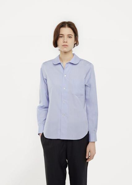 Rounded Collar Cotton Shirt