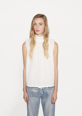 Sleeveless High Neck Blouse
