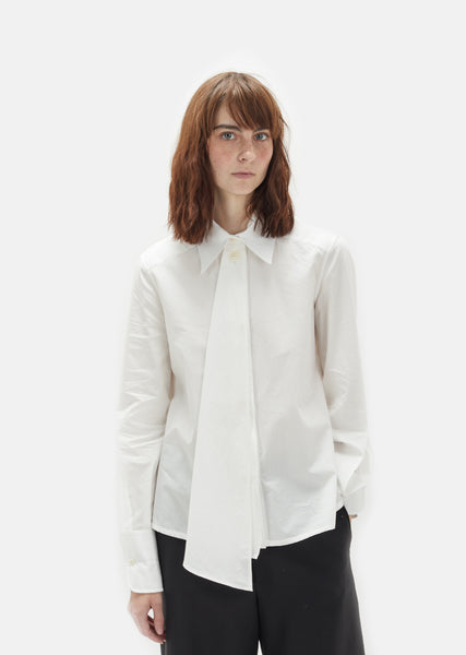 Cotton Poplin Asymmetrical Shirt